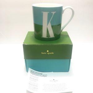 """Kate Spade X Lenox """"K"""" Mug NWB"""
